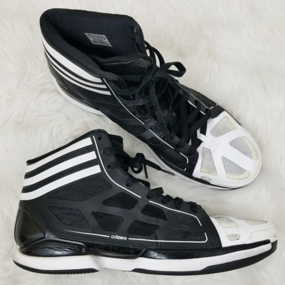 separation shoes a1285 8ee7d adidas Other - Adidas Adizero Black White Basketball Shoes 13